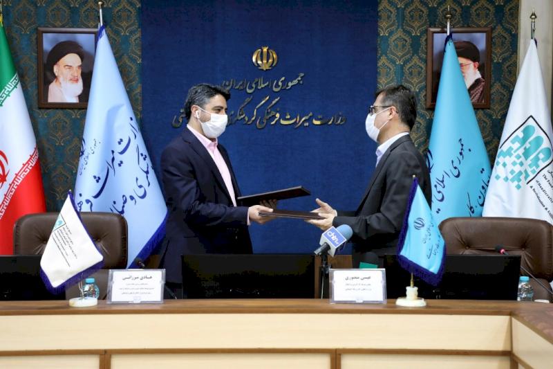 امضای تفاهمنامه همکاری مشترک میان معاونت توسعه اشتغال و کارآفرینی وزارت تعاون و صندوق توسعه صنایعدستی